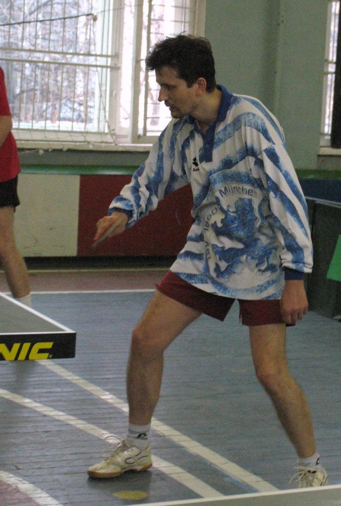 DF на приеме - настольный теннис фото