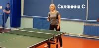 Занятие по настольному теннису