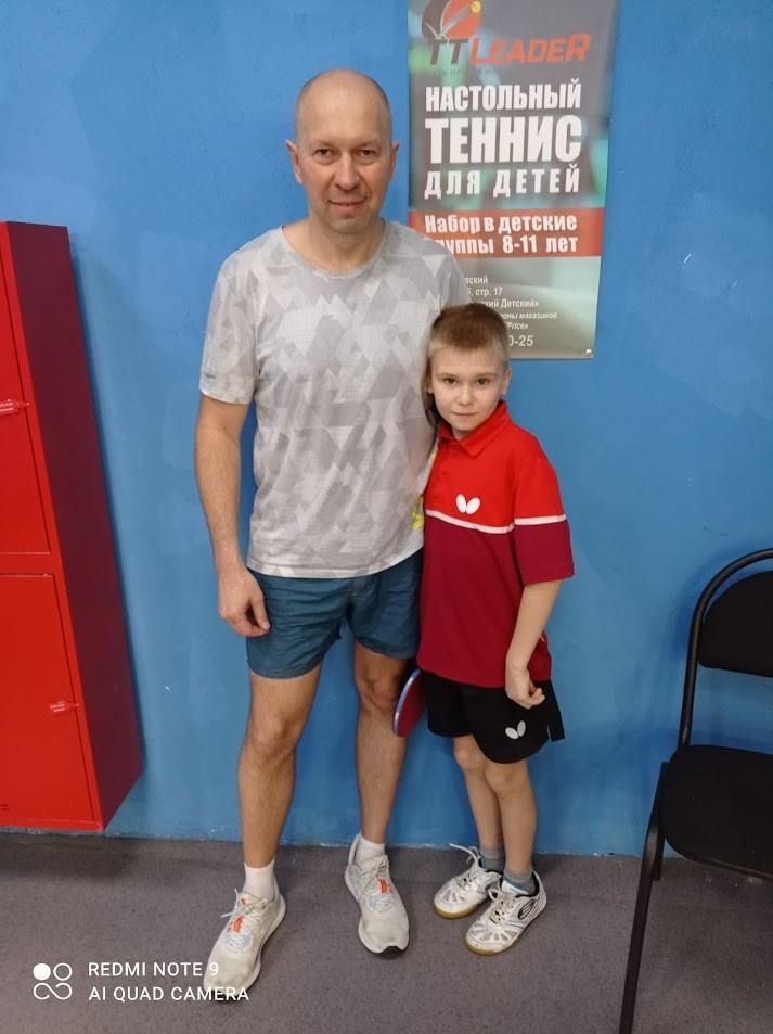 Команда Петрушовых - настольный теннис фото