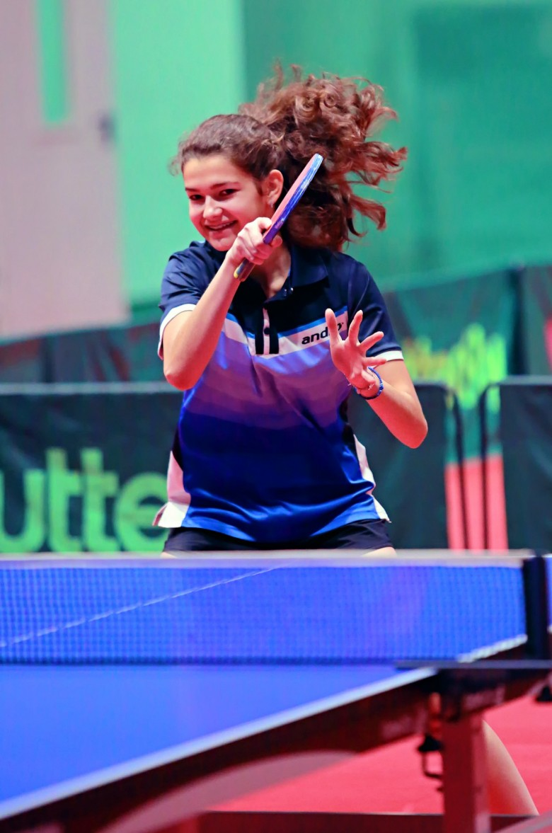 Дарья Зюзина. - настольный теннис фото