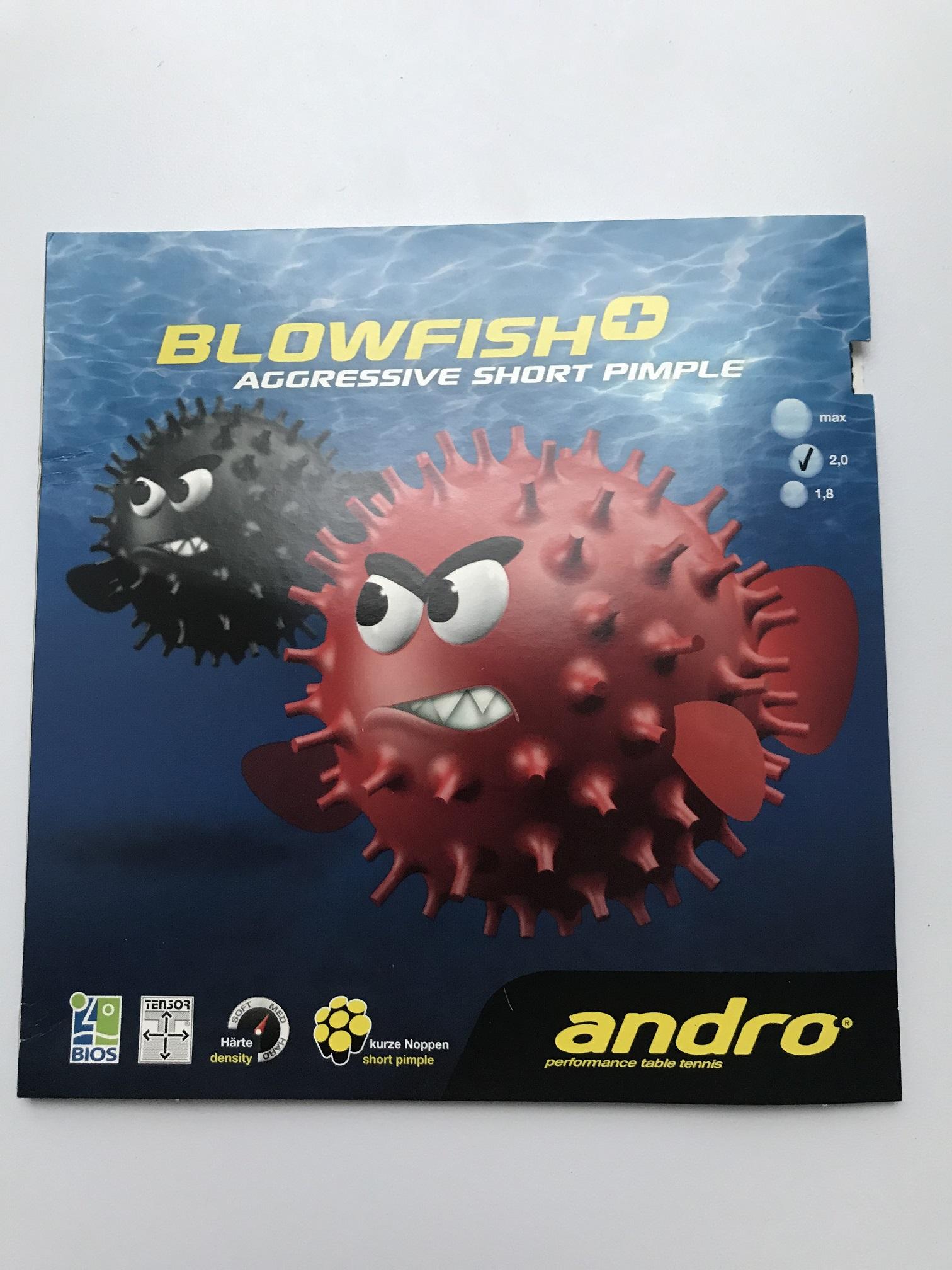 [продано] Продам накладку ANDRO Blowfish Plus, 2,0. КШ, чёрная, проба 15 минут
