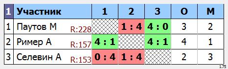 результаты турнира Макс-250