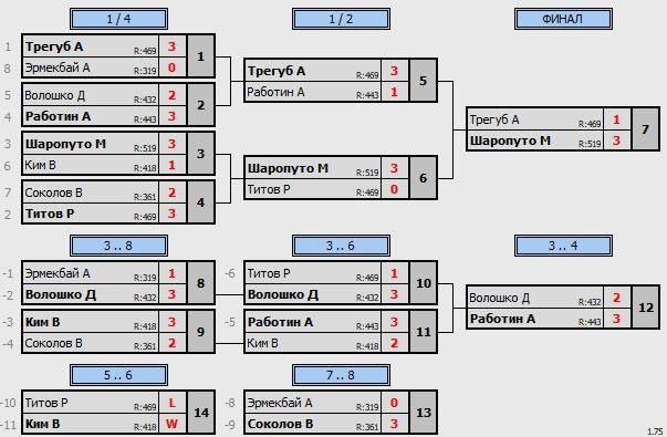 результаты турнира Макс-650 в клубе Tenix